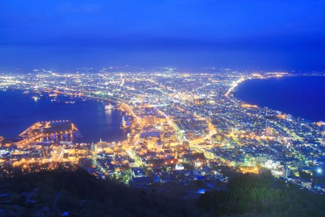 函館山展望台の混雑や夜景、ロープウェイ、駐車場の混み具合と夜景時間