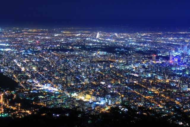 藻岩山展望台の混雑や夜景、ロープウェイ、駐車場の混み具合と夜景時間