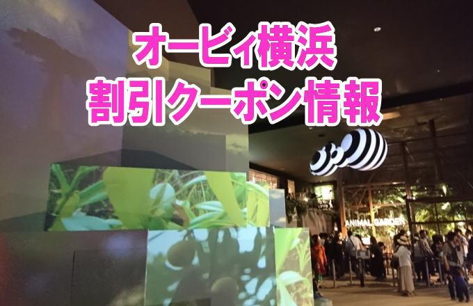 オービィ横浜の割引クーポン情報2019!jafや前売り券、年パスなどお得チケット