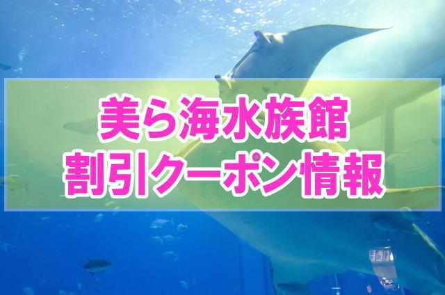 美ら海水族館の割引クーポン情報2020!前売り券やjaf、JTBなど最安値入館料はどれ?